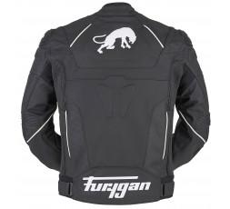 Blouson de moto en cuir RAPTOR EVO de la marque FURYGAN blanc et noir 2