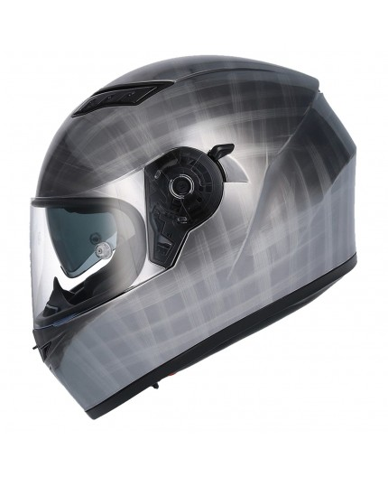 SH-600 CHROME SCRATCHED full face helmet by SHIRO