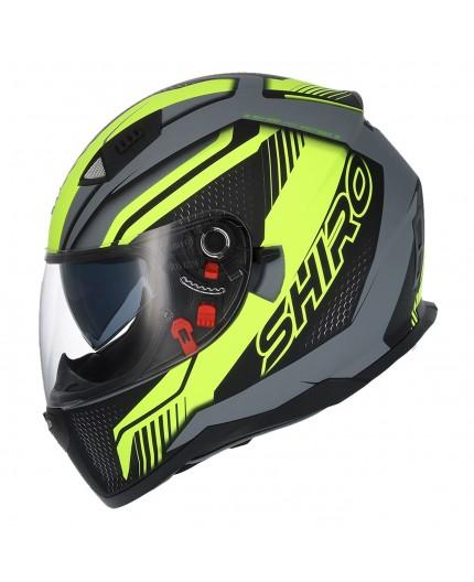 SH-881 SV MOTEGI Yellow full face helmet by SHIRO