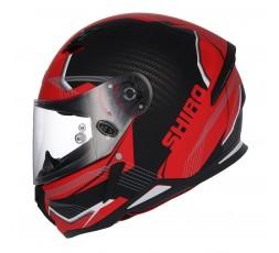 SH-890 LOSAIL full face helmet by SHIRO Red / Matte black 1