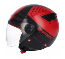 Casco Jet SH-62 Oxford de SHIRO Rojo