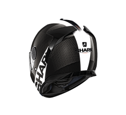 Casco integral SPARTAN CARBON SKIN de SHARK negro/blanco