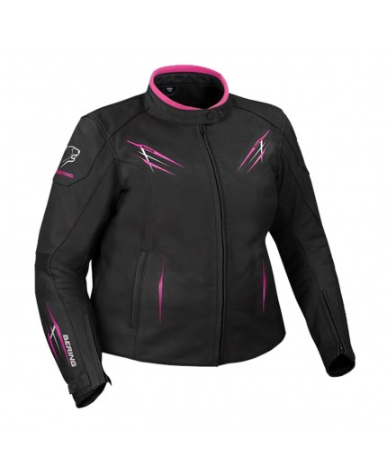 Woman leather motorcycle jacket LADY BRUTALIA QUEEN SIZE by BERING