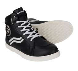 Urban motorcycle boots LADY STARS EVO by BERING black and white