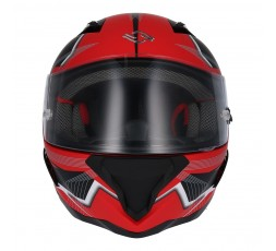SH-890 LOSAIL full face helmet by SHIRO Red / Matte black 2