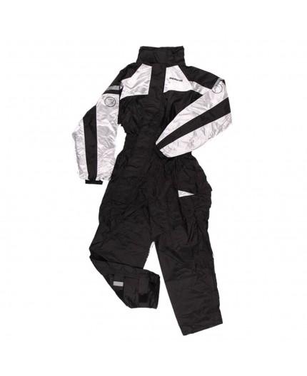 IWAKI Rain Motorcycle Suit Black and white by Bering