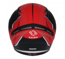 Casco integral SH-890 LOSAIL de SHIRO Rojo/ Negro mate.