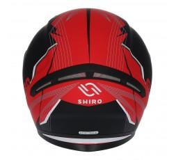 Casque intégral modèle SH-890 LOSAIL de SHIRO Rouge / Noir mat 3