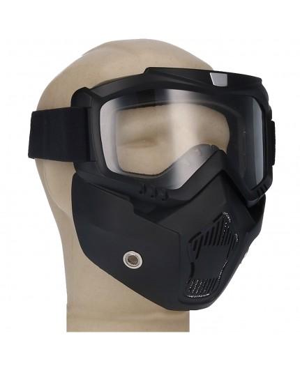 Mascara universal motero SH-12 de SHIRO Negro